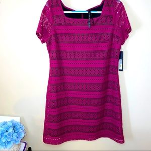 Andrew marc embroidered summer dress